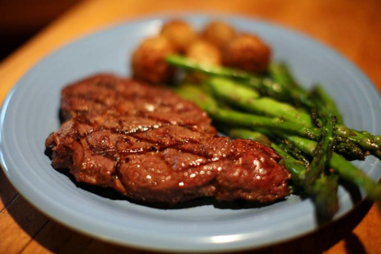 Grilled Bison Rib Steak