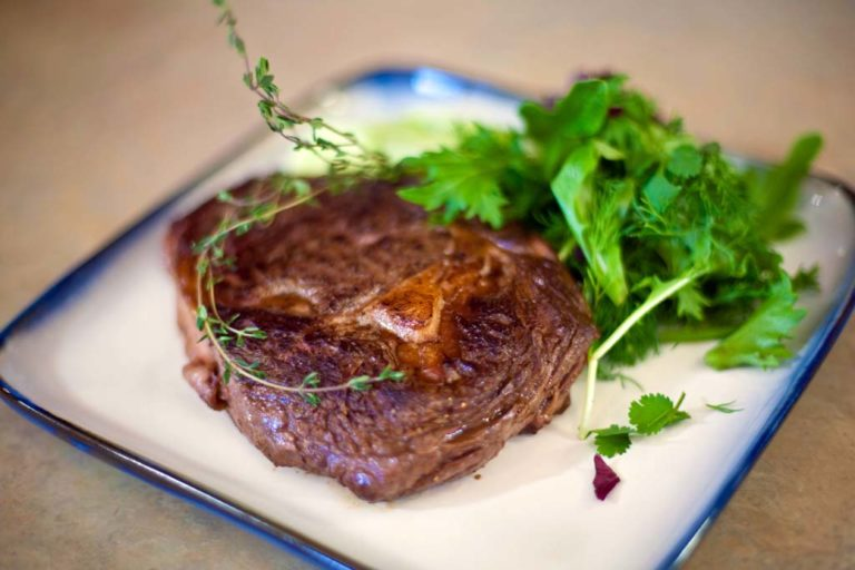Pan-Fried Bison Ribeye Steak